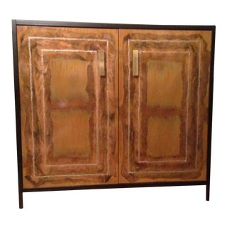 Cabinet/Server Mid Century Modern Luxury Copper Brass Satin Black For Sale