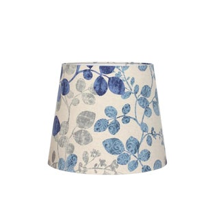 Blue Botanical Cabrera Leaf Empire Lamp Shade For Sale