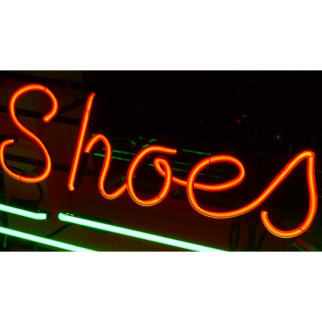 Neon Neon Sign From Department Store, Men's Shoes, Lower Level, Circa 1930s. For Sale - Image 7 of 13