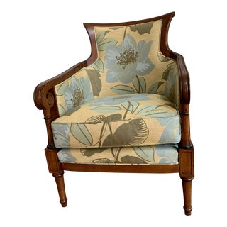 Tommy Bahama Style Upholstered Side Chair For Sale