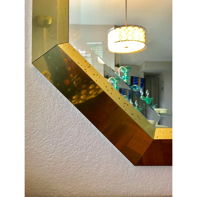 Springer Style Brass Beveled Glass Mirror - Image 7 of 9