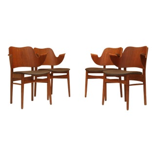Hans Olsen Style Danish Modern Teak Dining Chairs - Set of 4