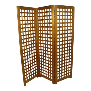 Mid-Century Modern Danish Teak Weave-Style Screen For Sale