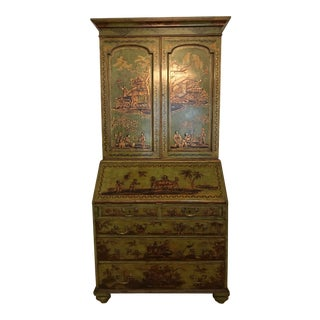 19th Century English Chinoiserie Secretary Desk For Sale