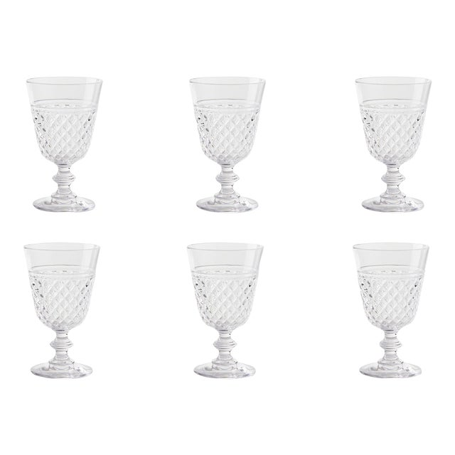 Kenneth Ludwig Chicago Villa Acrylic Wine Glasses - Set of 6 For Sale