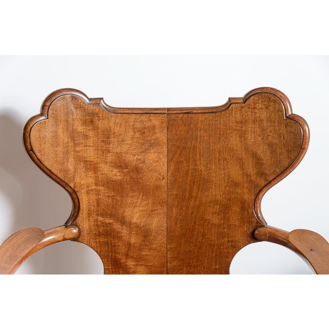Textile Irish Walnut Library Chair For Sale - Image 7 of 9