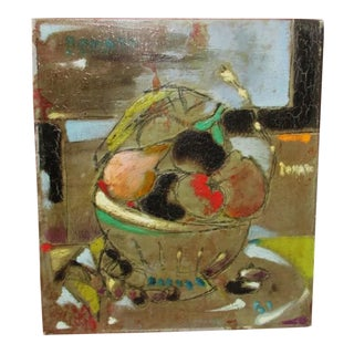 Mid Century Italian Still Life Painting For Sale
