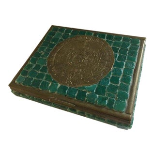Mosaic Box by Artist Salvador Teran of Los Castillos For Sale