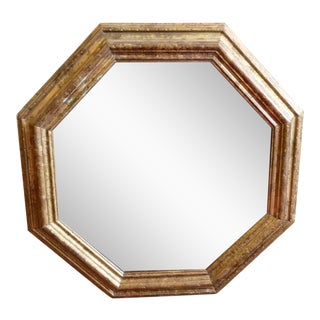 Gold, Octagonal Wall Mirror For Sale
