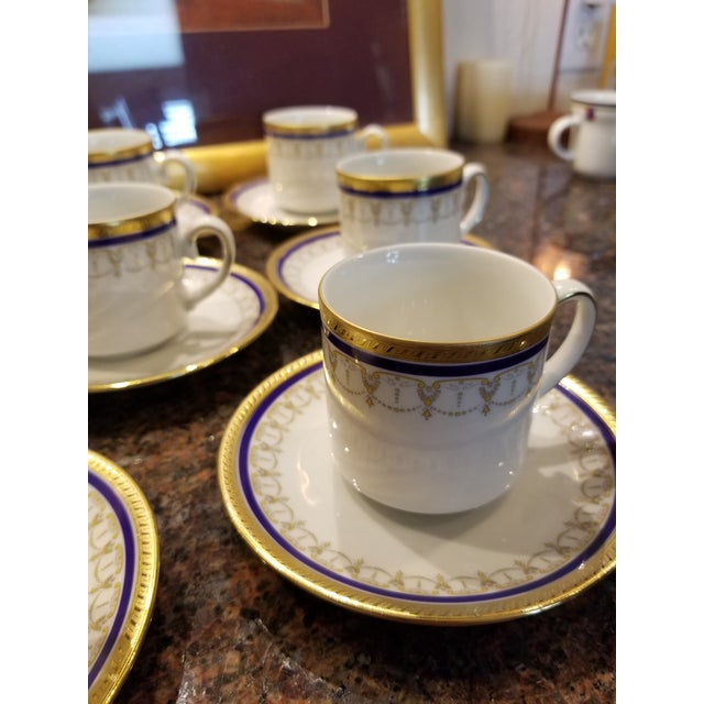 Collection of Eleven German Porcelain Demitasse Cups and Saucers For Sale In San Antonio - Image 6 of 9