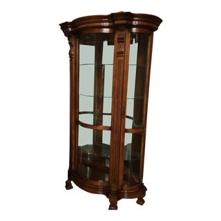 Pulaski Curved Curio Cabinet For Sale