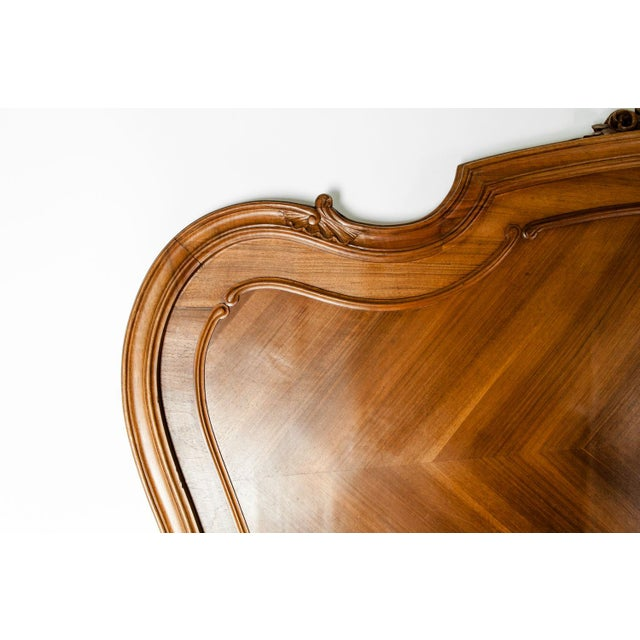 Late 19th Century French Burl Walnut Bed For Sale - Image 4 of 13