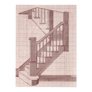 Staircase, Etching by Alice Adams