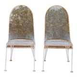 Image of Vintage Pair of Salterini Patio Chairs For Sale