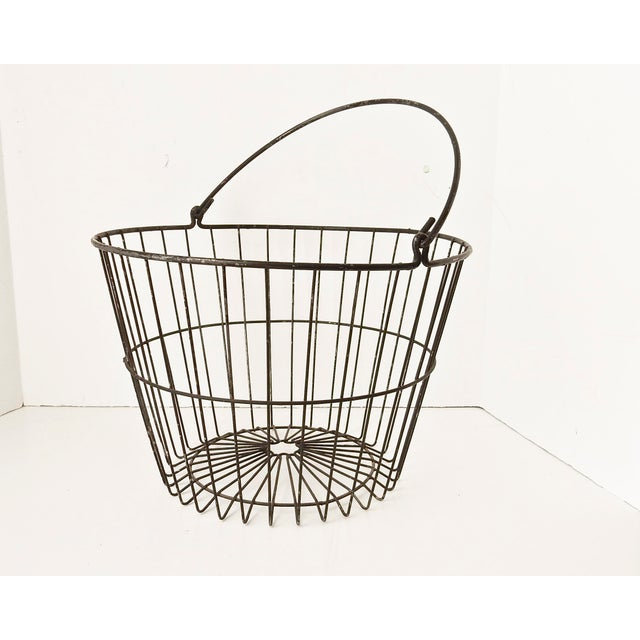 Rustic Industrial Wire Egg Basket - Image 2 of 7