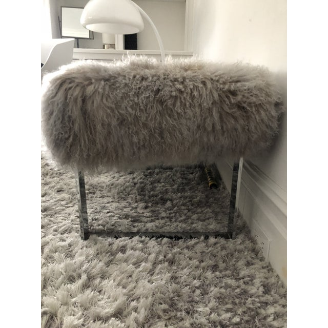 Furry bench, excellent condition