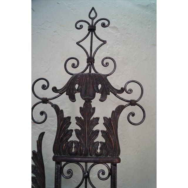 Maitland Smith Ornate Iron & Bronze Rococo Screen - Image 2 of 10