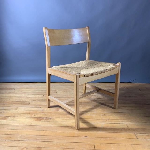 Tan 1960s Vintage Børge Mogensen Bm2 Oak & Papercord Dining Chairs- Set of6 For Sale - Image 8 of 13