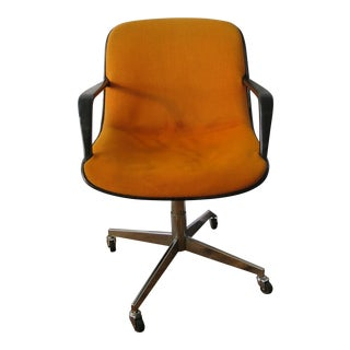 Steelcase Orange Office Rolling Chair