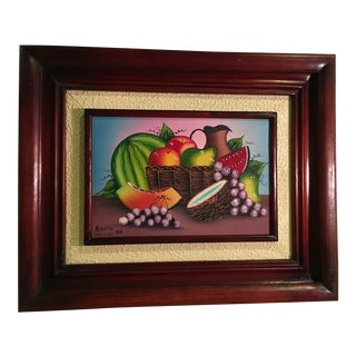 Vintage Haitian Still Life Painting by Artist Roberto For Sale