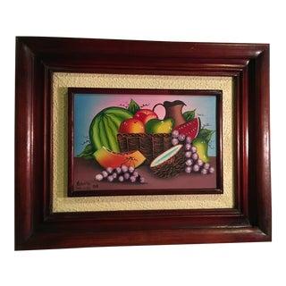 Vintage Haitian Still Life Painting by Artist Roberto