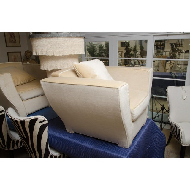 Mohair Brueton Oversized Lounge Chair Upholstered in Mohair For Sale - Image 7 of 9