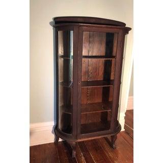 Antebellum Antique Wooden Blown Glass Cabinet Preview
