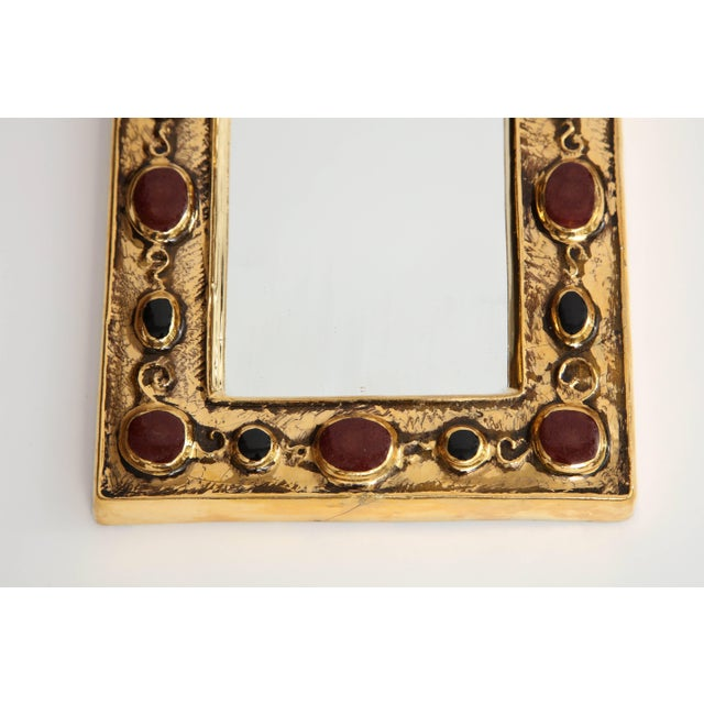 Jeweled François Lembo Mirror For Sale - Image 4 of 8