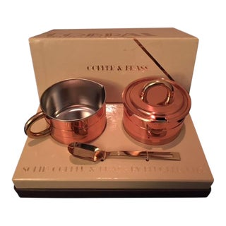 """1970's """"Cobras by Beucler"""" Copper and Brass Cream and Sugar Set - 3 Pc."""