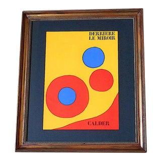 Vintage Mid 20th C. Ltd. Ed Lithograph From Derriere Le Miroir No. 201-1973-Alexander Calder For Sale