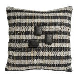 Image of Black & Grey Hand-Woven Pillow For Sale