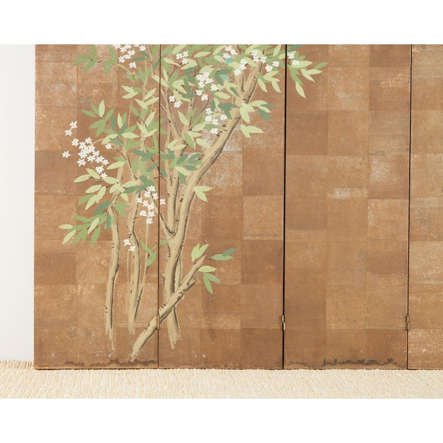 Chinoiserie Six-Panel Screen Inspired by Robert Crowder For Sale - Image 10 of 13