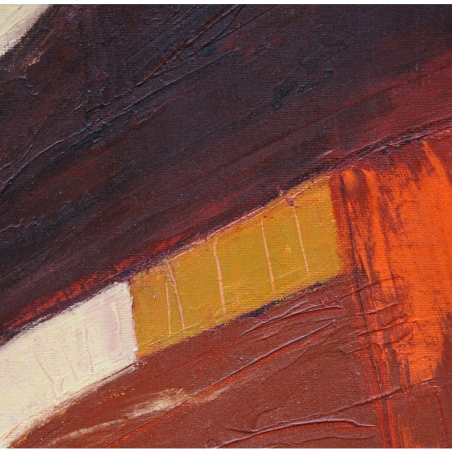 "Abstract Laurie MacMillan ""Freeway"" Abstract Painting For Sale - Image 3 of 4"