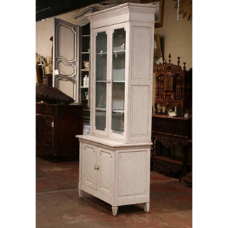 19th Century Louis XVI Painted Buffet Display Cabinet With Glass Doors Preview