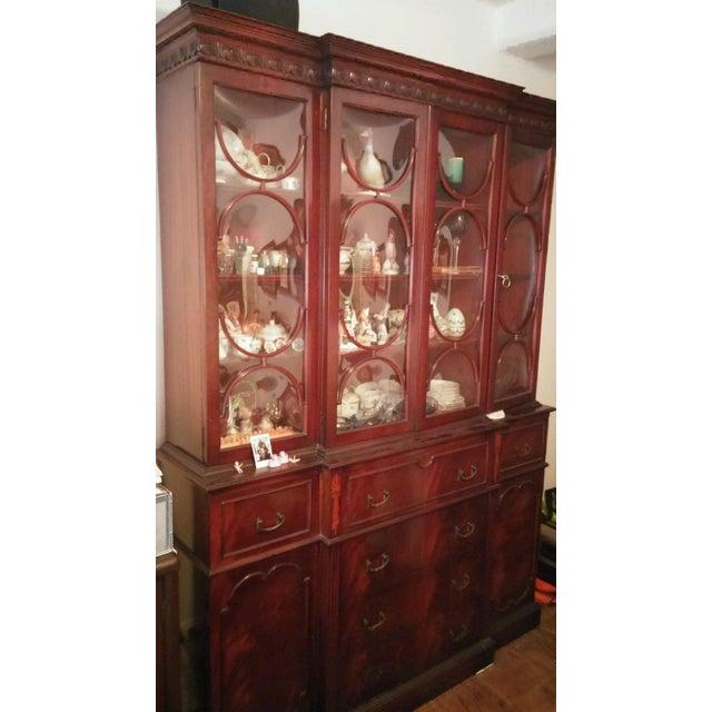 Vintage Mahogany China Cabinet - Image 4 of 10