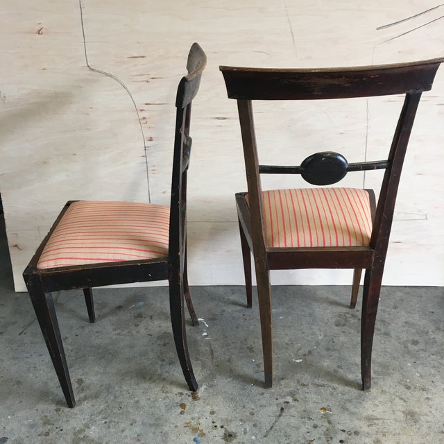 Italian 18th Century Italian Decorative Chairs - a Pair For Sale - Image 3 of 8