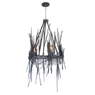 Ceramic and Gold Leaf Astrid Chandelier by Zuckerhosen For Sale