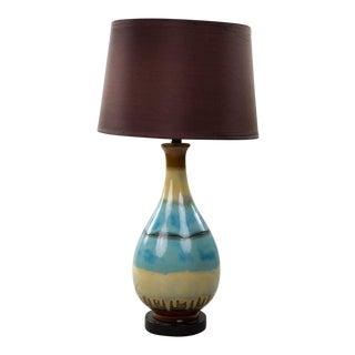 Mid-Century Modern Glazed Ceramic Table Lamp For Sale