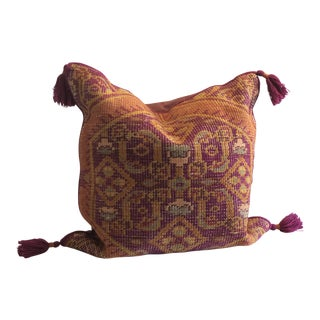 Boho Chic Surya Hand Knotted Pillow For Sale