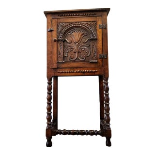 19th Century English Jacobean Bar Cabinet For Sale