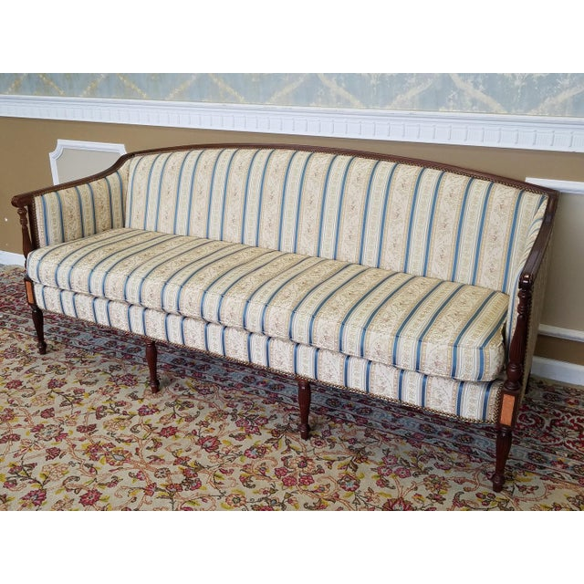 Hickory Chair Furniture Company Fantastic Hickory Chair Company James River Collection Sheraton Mahogany Sofa For Sale - Image 4 of 10