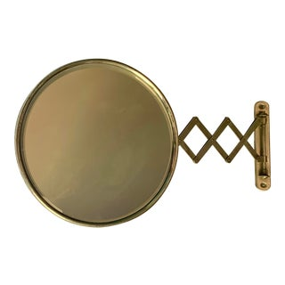 Antique Beveled Adjustable Accordion Shaving Mirror For Sale
