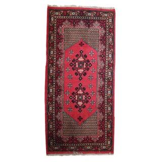 1970s Vintage Algerian Berber Rug- 3′3″ × 7′ For Sale