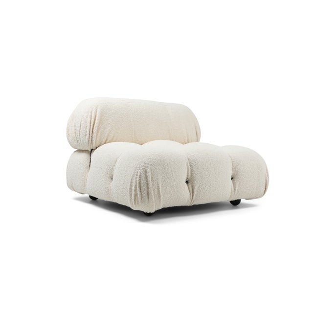 Ivory Camaleonda Bouclé Wool Sectional Sofa by Mario Bellini For Sale - Image 8 of 8