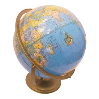 Vintage Imperial World Globe For Sale