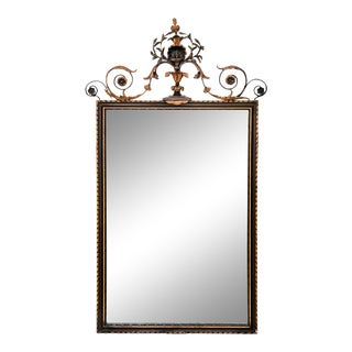 French Giltwood and Wrought Iron Mirror For Sale