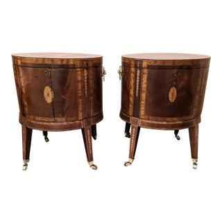 1870s Irish Mahogany Cellarette With Banded Inlay - a Pair For Sale