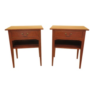 Nichols & Stone by Stickley Cherry Nightstands-A Pair For Sale