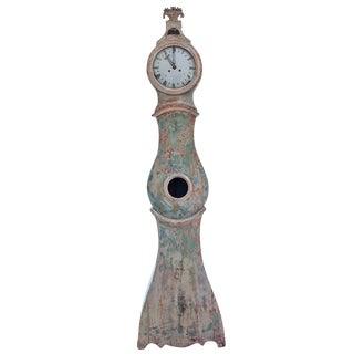 18th Century Swedish Rococo Period Mora Clock in Original Paint