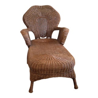 Wicker Chaise Lounge For Sale